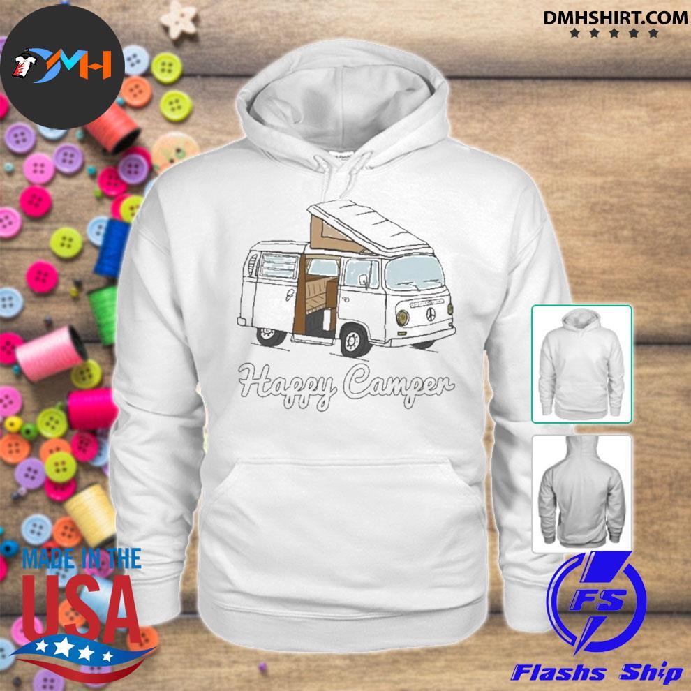 Felpa con cappuccio happy camper hoodie