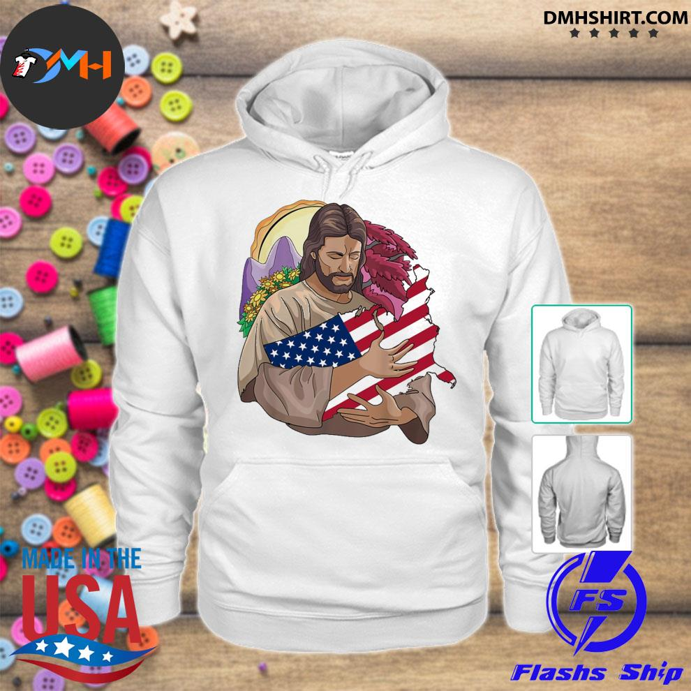 Jesus love hug Texas flag hoodie