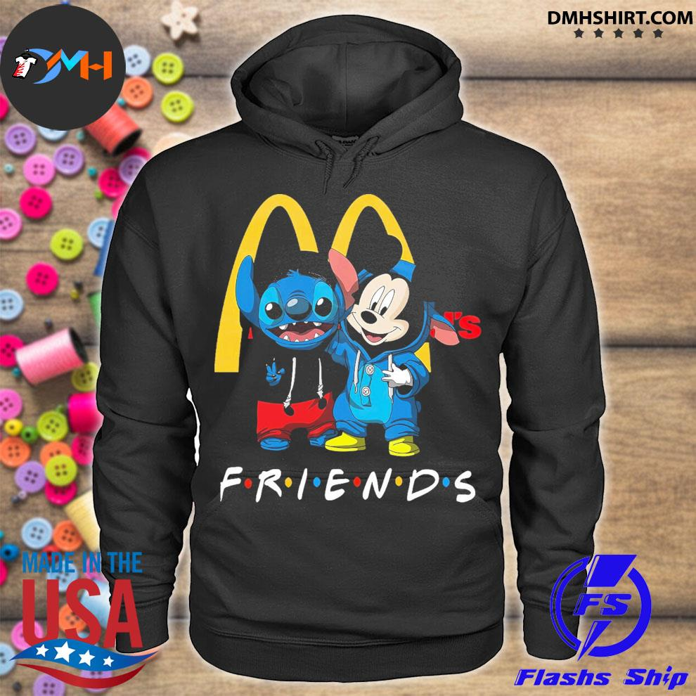 Mickey Mouse and Stitch peace Mcdonald friends hoodie