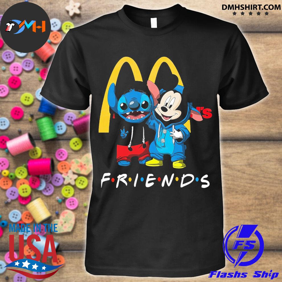 Mickey Mouse and Stitch peace Mcdonald friends shirt