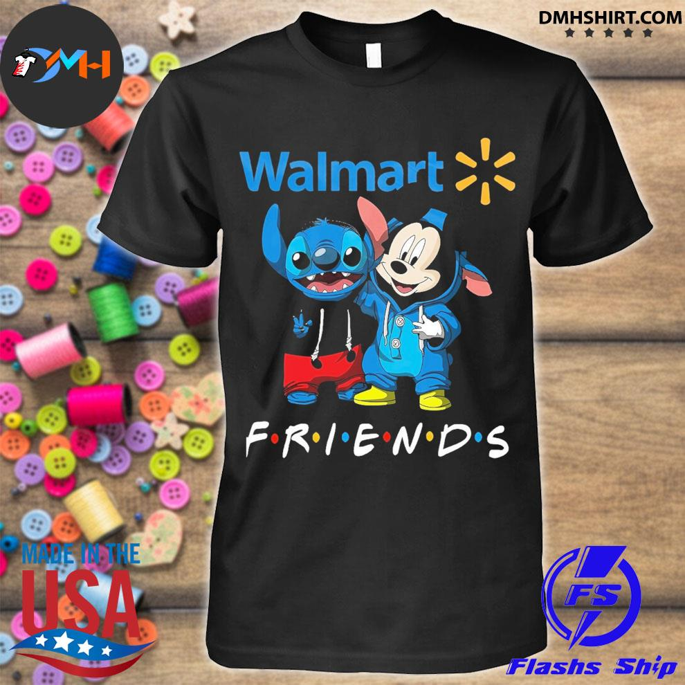 Mickey Mouse and Stitch peace Walmart friends shirt