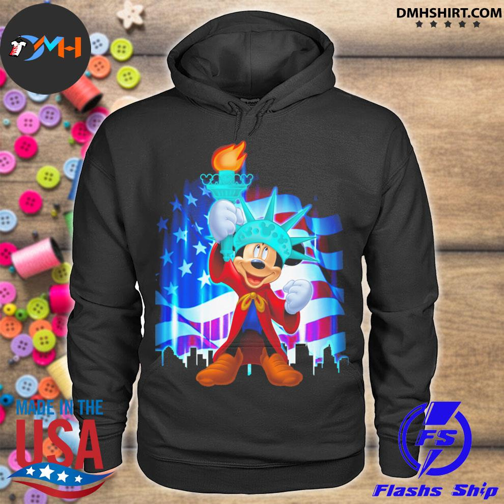 Mickey Mouse liberties and American flag hoodie