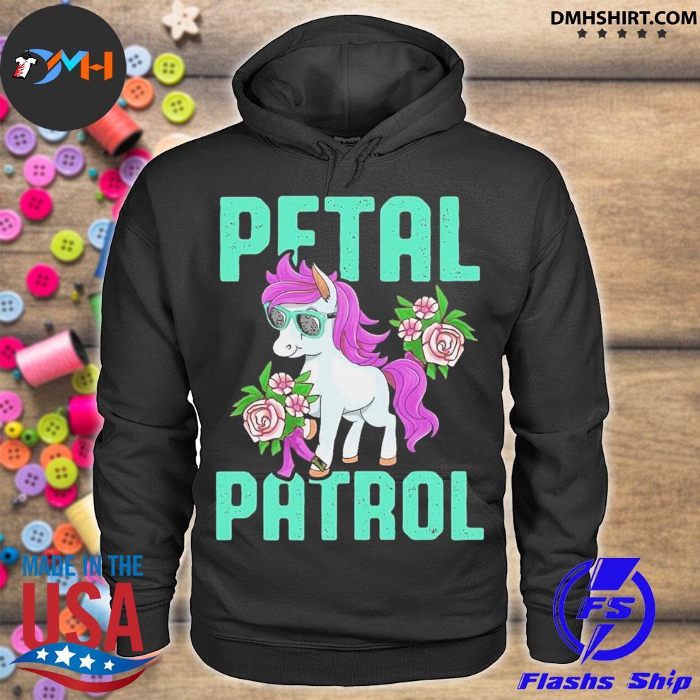 Pony sunglasses petal patrol unicorn hoodie