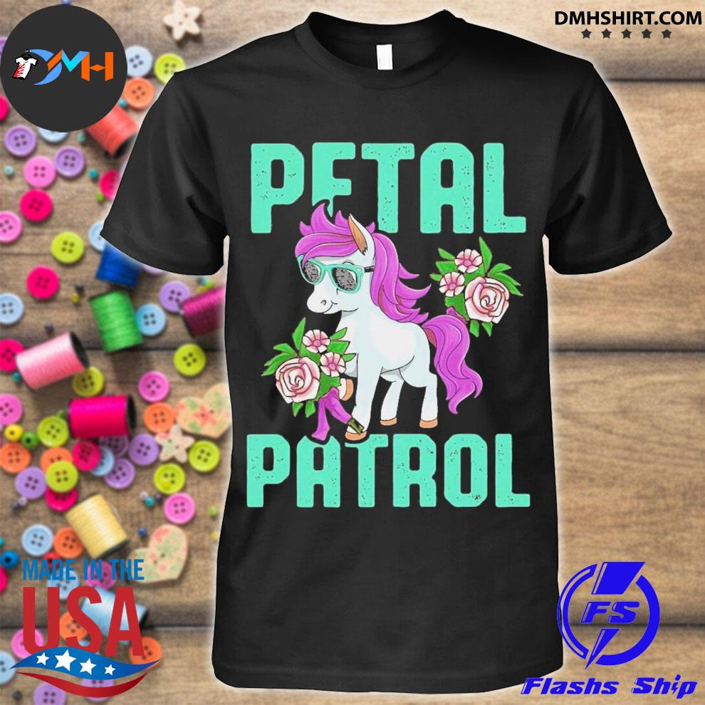 Pony sunglasses petal patrol unicorn shirt