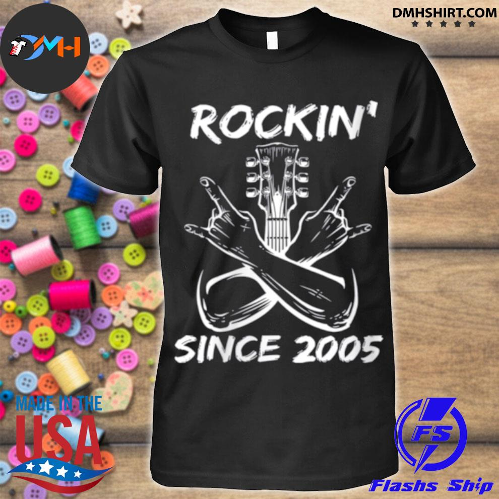 Rockin' since 2005 16th birthday guitar 16 years old shirt