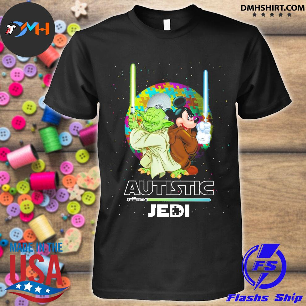 Star Wars Yoda and Mickey Mouse Autistic Jedi shirt