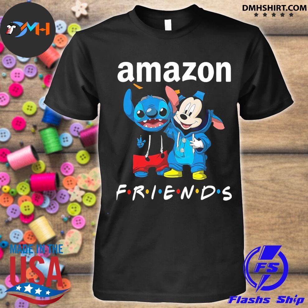 Stitch and Mickey Mouse friend Amazon shirt