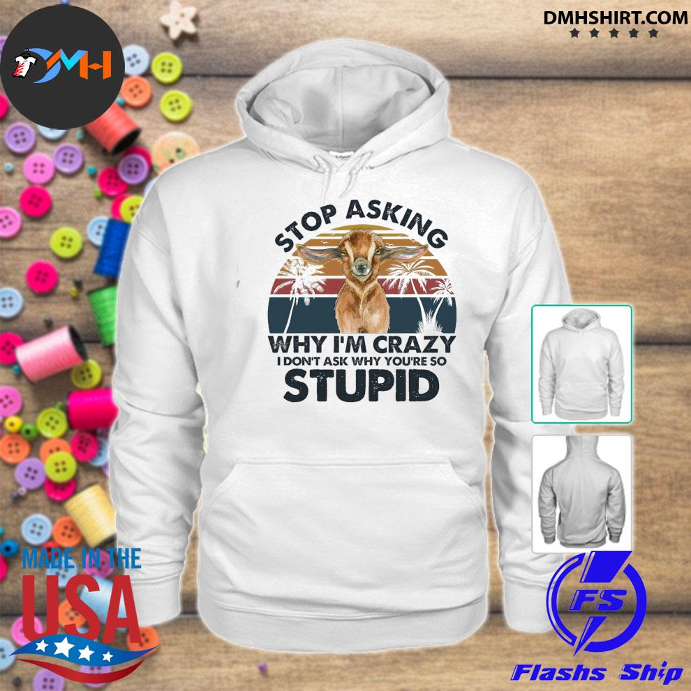 Stop asking why I'm crazy stupid vintage hoodie