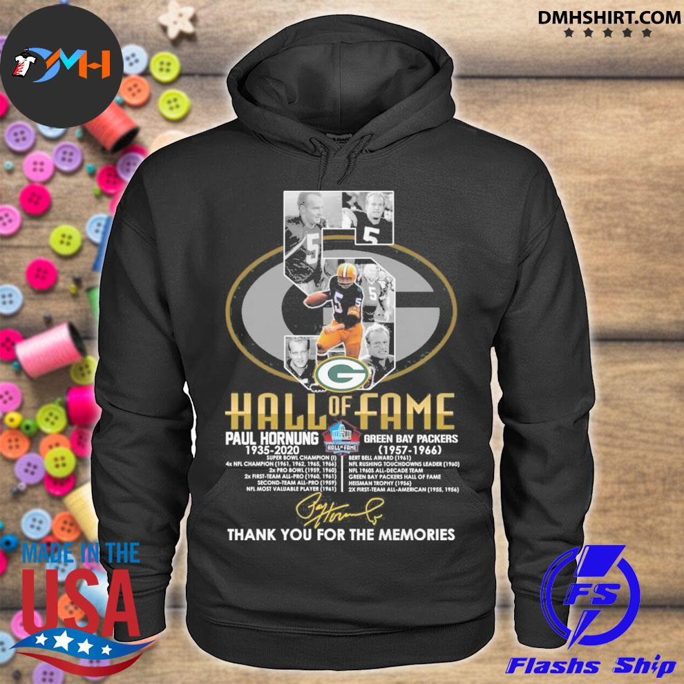 5 Hall Of Fame Paul Hornung anniversary signature thank you for the memories s hoodie
