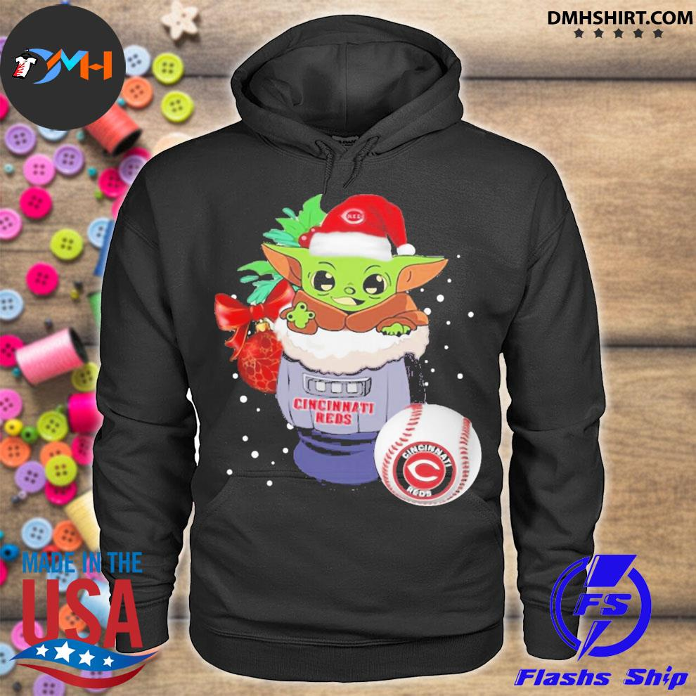 Cincinnati reds christmas baby yoda star wars funny happy mlb s hoodie