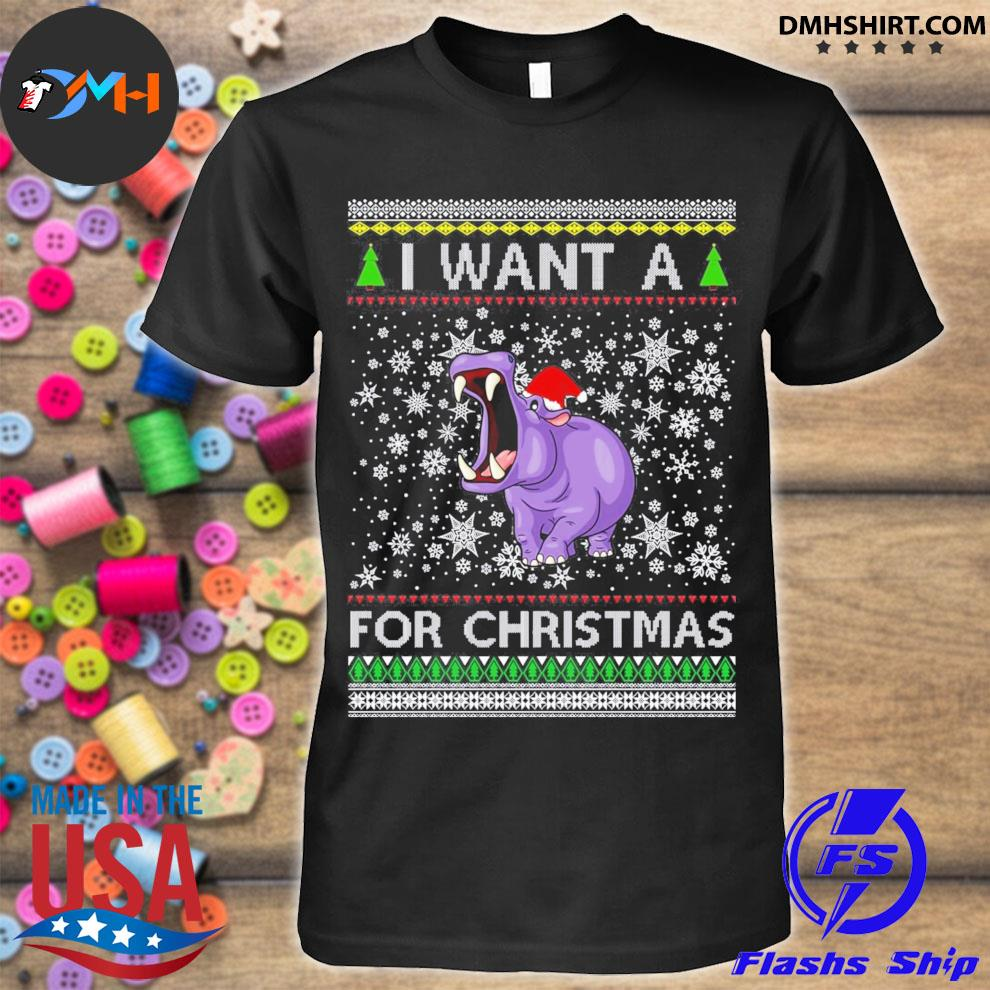 I want a hippopotamus for Christmas ugly sweater