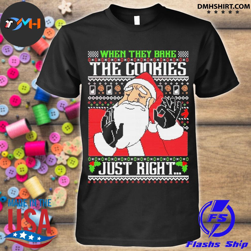 Pacha meme santa Christmas when they bake the cookies just right ugly christmas sweater