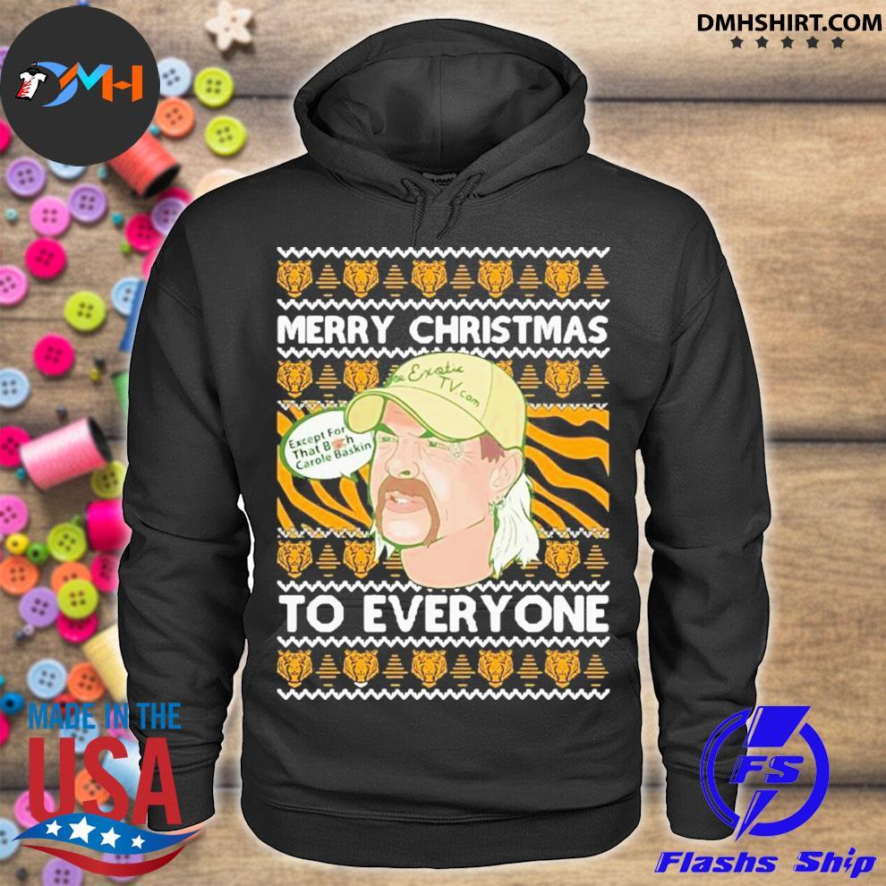 Tiger king merry christmas joe exotic big cat rescue carole baskin sh300 ugly christmas festive s hoodie