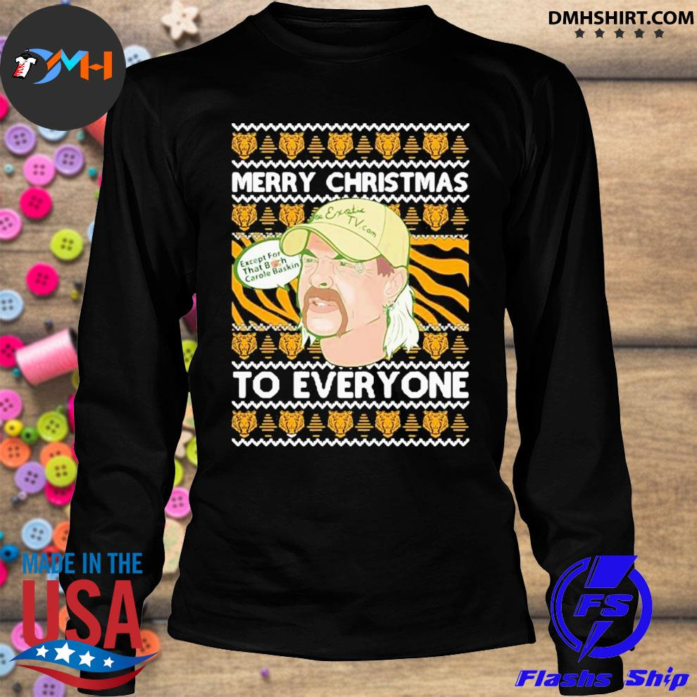 Tiger king merry christmas joe exotic big cat rescue carole baskin sh300 ugly christmas festive s longsleeve