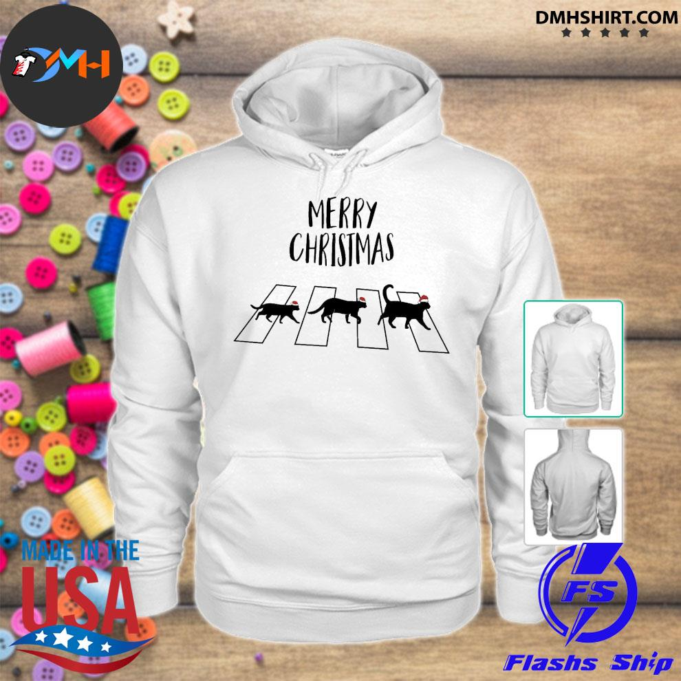 Official cat hat santa abbey road merry christmas s hoodie