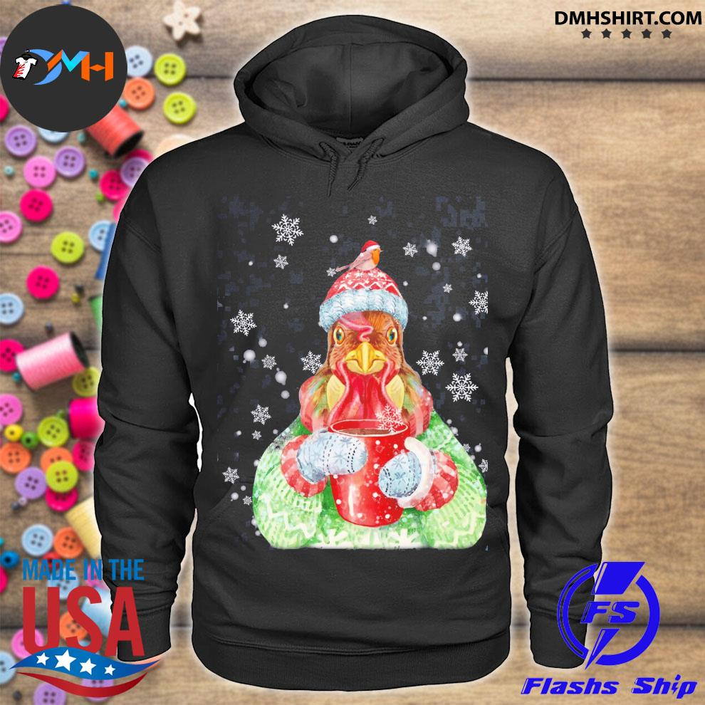 Official chicken coffee merry christmas sweater hoodie