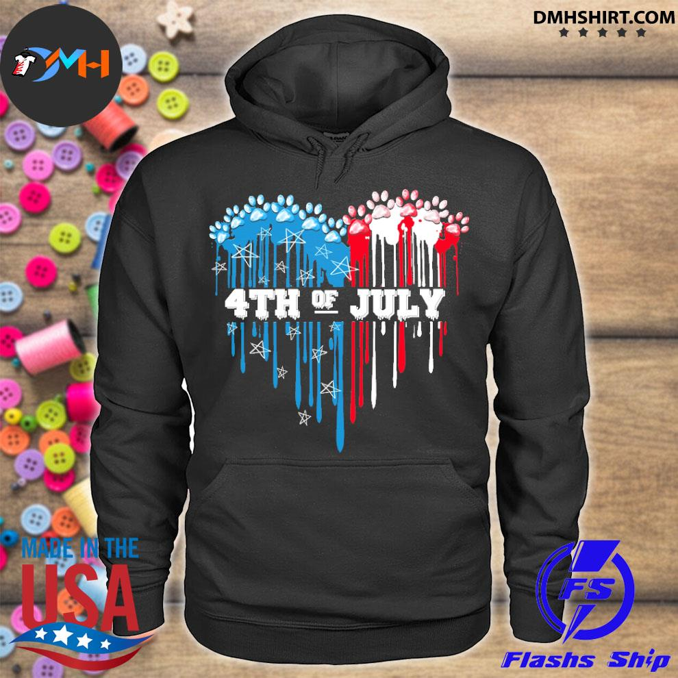 Official dog heart 4th of july s hoodie