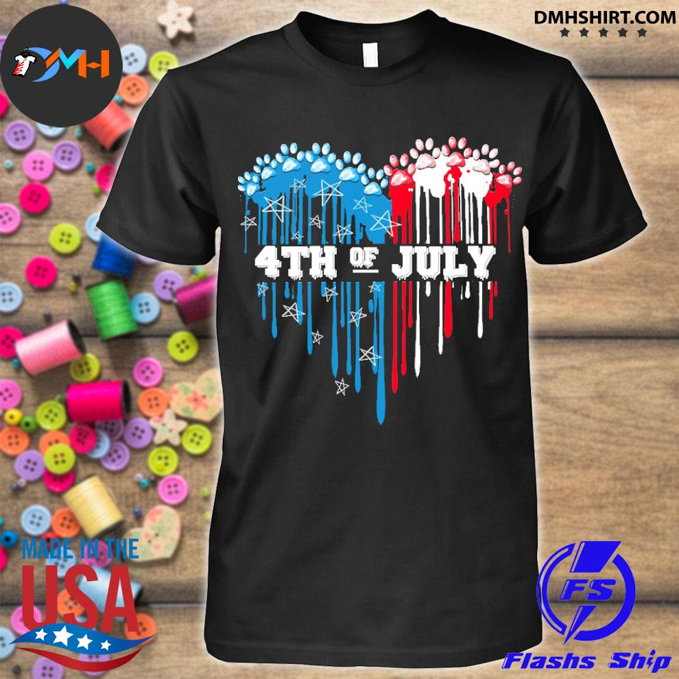 Official dog heart 4th of july shirt