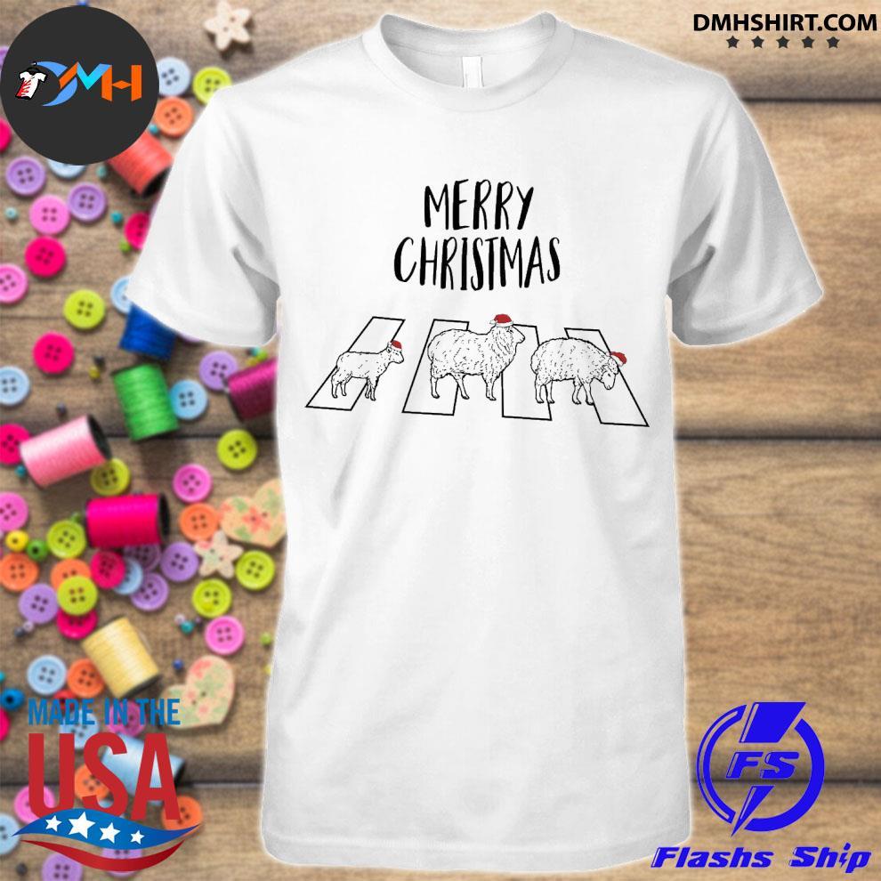 Official land hat santa abbey road merry christmas shirt