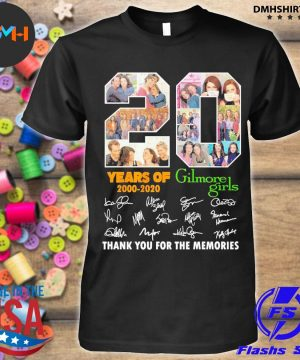 20 years of Gilmore Girls signatures thank you for the memories shirt