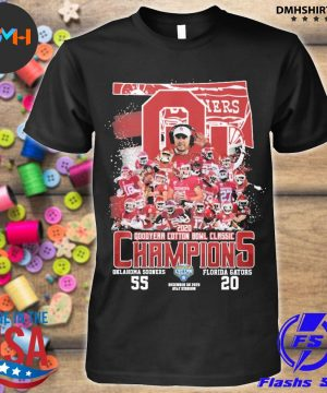 Official 2020 oklahoma sooners goodyear cotton bowl classic champions shirt