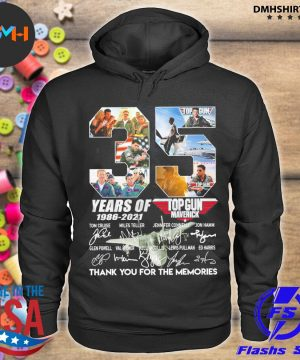 Official 35 years of top gun 1986 2021 thank you for the memories signatures s hoodie