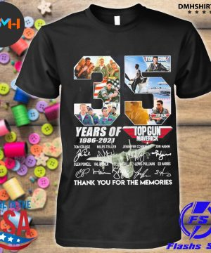 Official 35 years of top gun 1986 2021 thank you for the memories signatures shirt