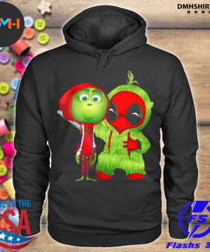 Official baby grinch and baby deadpool s hoodie