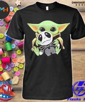 Official baby yoda hug jack skellington shirt