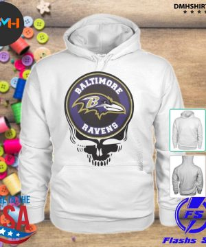 Official baltimore ravens football skull s hoodie