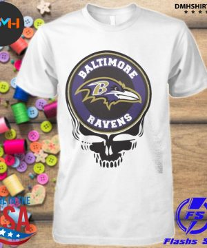 Official baltimore ravens football skull shirt