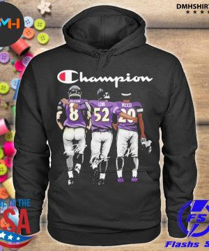 Official baltimore ravens jackson lewis reed champion signatures s hoodie