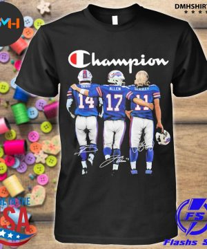 Official buffalo bills champion diggs allen beasley signatures shirt