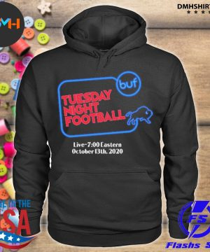 Official buffalo bills tuesday night football live 7 eastern october 2020 s hoodie