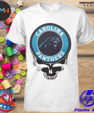 Official carolina panthers football skull shirt