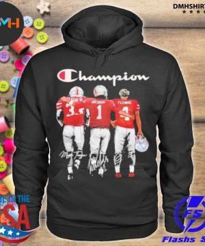 Official champion league iii okudah fleming ohio state buckeyes signatures s hoodie