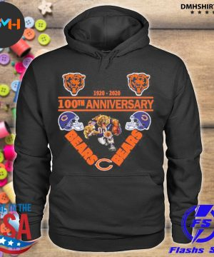 Official chicago bears 1920-2020 100th anniversary s hoodie