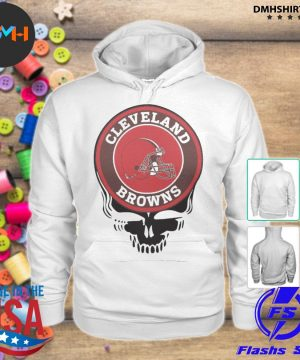 Official cleveland browns football skull s hoodie