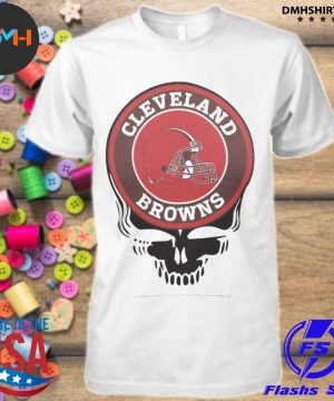 Official cleveland browns football skull shirt