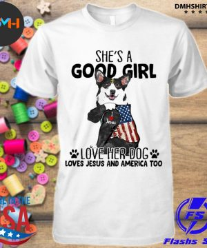 Official corgi strong girl she's a good girl love her dog loves jesus and american flag shirt
