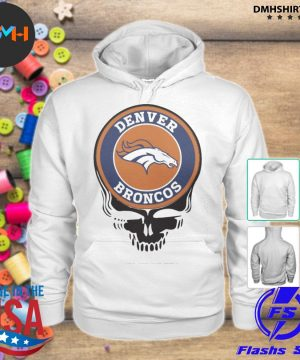 Official denver broncos football skull s hoodie
