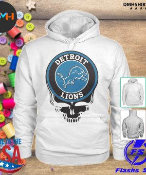 Official detroit lions nfl football skull s hoodie