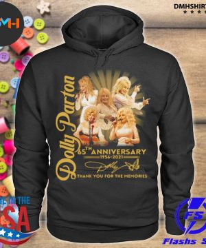 Official dolly parton 65th anniversary 1956 2021 thank you for the memories signature s hoodie