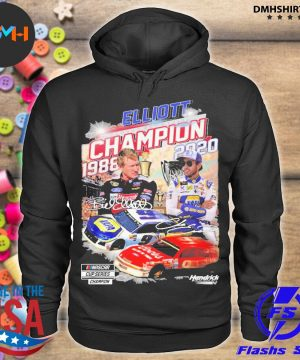 Official elliott nascar cup series champion 1988-2020 signatures s hoodie