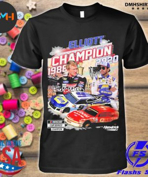 Official elliott nascar cup series champion 1988-2020 signatures shirt