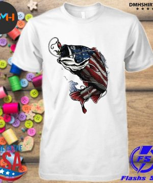 Official fishing american flag 2021 shirt