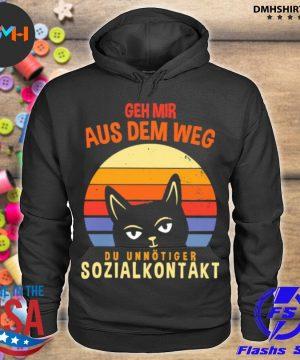Official geh mir aus dem weg du unnötiger sozialkontakt cat vintage sunset s hoodie