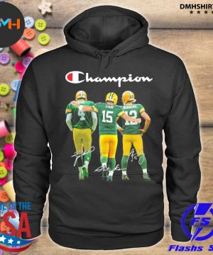 Official green bay packers favre starr rodgers champions signatures s hoodie