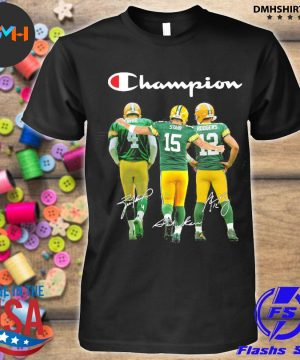 Official green bay packers favre starr rodgers champions signatures shirt