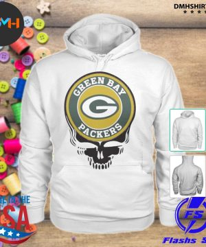 Official green bay packers football skull s hoodie
